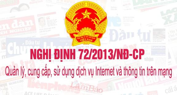 Nghị định 72/2013/NĐ-CP