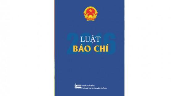 Sách Luật Báo chí 2016
