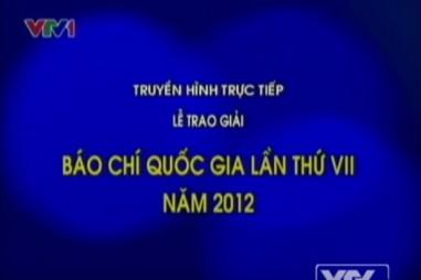 Giải Báo chí Quốc gia lần 7 - Năm 2012