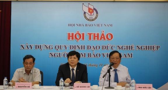 Hội thảo Xây dựng Quy định đạo đức nghề nghiệp người làm báo Việt Nam