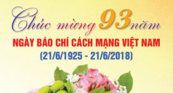 Thư chúc mừng Ngày Báo chí Cách mạng Việt Nam