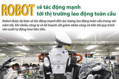 Robot tác động mạnh tới thị trường lao động toàn cầu