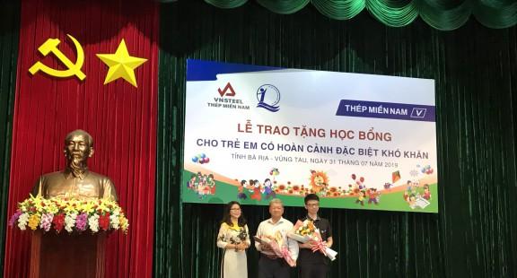 Thép Miền Nam trao học bổng cho học sinh có hoàn cảnh khó khăn tỉnh Bà Rịa – Vũng Tàu