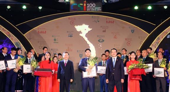 Vinh danh Top 100 Doanh nghiệp phát triển bền vững năm 2019