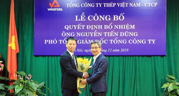 Tổng Công ty Thép Việt Nam có Phó Tổng Giám đốc mới