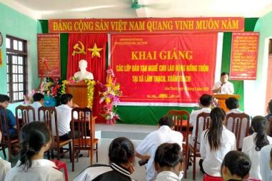 200 lao động nông thônđược đào tạo nghề tại huyện Bố Trạch, Quảng Bình