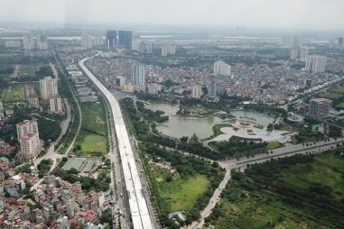 Toàn cảnh Dự án đầu tư mở rộng đường vành đai 3 nhìn từ trên cao