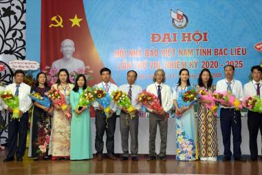 Đại hội Hội Nhà báo tỉnh Bạc Liêu lần thứ VIII