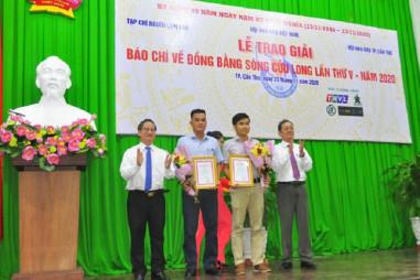 Lễ trao giải báo chí về Đồng bằng sông Cửu Long năm 2020
