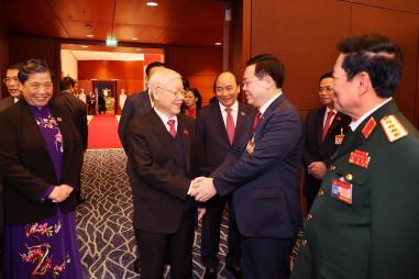 Hình ảnh các đại biểu tới dự phiên trù bị Đại hội XIII của Đảng