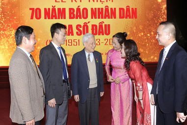 Báo Nhân Dân kỷ niệm 70 năm Ngày ra số đầu tiên