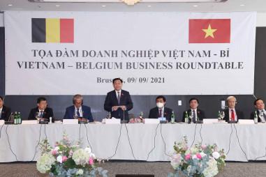 Chủ tịch Quốc hội Vương Đình Huệdự Tọa đàm doanh nghiệp Việt Nam – Bỉ