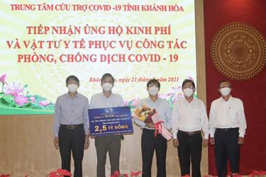 Khánh Hòa tiếp nhận hơn 4,6 tỷ đồng, 26 tấn gạo và trang thiết bị y tế từ 9 đơn vị ủng hộ