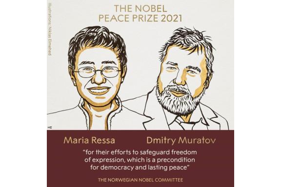 Nobel Hòa bình 2021: Vinh danh các nhà báo