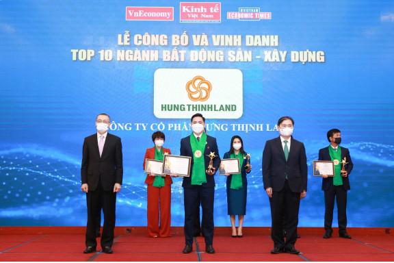 Hưng Thịnh Land đón nhận giải thưởng Thương hiệu Mạnh Việt Nam 2021